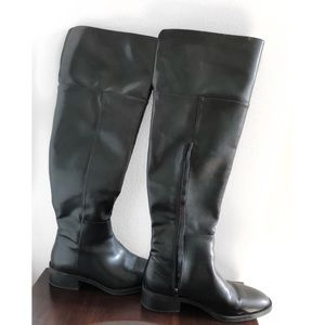 Zara Black over the knee boots sz 9 fits like an 8